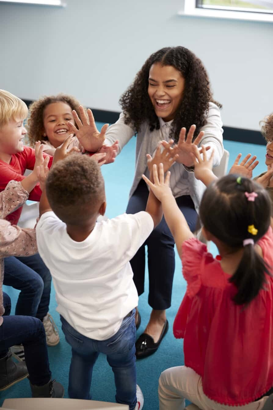 Children Having Fun in Kids Korner